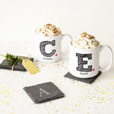 Cathy's Concepts CATHYS CONCEPTS Initial Set of 2 Personalized Large Coffee Mugs