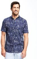 Old Navy Slim-Fit Classic Poplin Shirt For Men