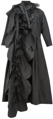 Comme des Garcons Scalloped-panel Technical-satin Dress - Womens - Black