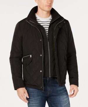 Calvin Klein Men's Quilted Overcoat