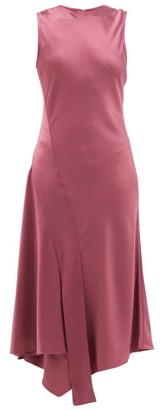 Sies Marjan Vanessa Asymmetric Satin Dress - Mid Burgundy