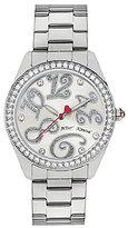 Betsey Johnson Crystal Analog Bracelet Watch