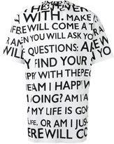 Versace Make it Happen print t-shirt - men - Cotton - M