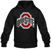 ZZYY Men's Long Sleeve Hoodies Ohio State University Logo Hooded Sweatshirt Size S