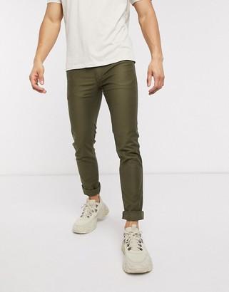 HUGO 734 extra slim fit jeans in khaki