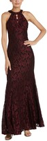 Thumbnail for your product : Nightway Glitter-Lace Keyhole Gown