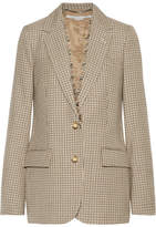 Stella McCartney Checked Wool Blazer - Camel