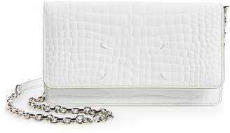 Maison Margiela Glam Slam Croc Embossed Leather Wallet on a Chain