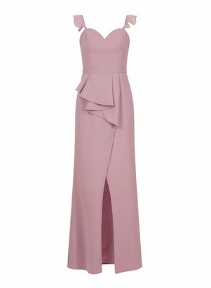 Dorothy Perkins Womens Chi Chi London Strapless Ruffle Maxi Dress