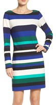 Vince Camuto Women's Stripe Scuba Sheath Dress