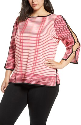 Ming Wang Split Sleeve Tunic Sweater