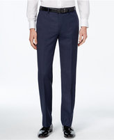 Calvin Klein Men's Slim-Fit Blue Plaid Dress Pants