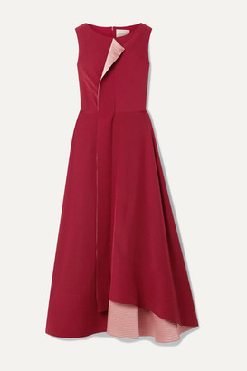 Roksanda Efilia Asymmetric Draped Silk-crepe Maxi Dress - Claret