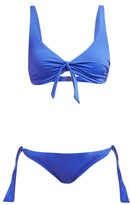 Melissa Odabash San Juan Bow-embellished Bikini - Womens - Blue