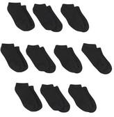 White//Black Hanes Boys Socks Little Boys /& Big Boys 10 Pack Ankle EZ Sort