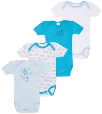 Absorba Pack of 4 Organic Cotton Bodysuits, 3 Months-3 Years
