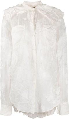 Nina Ricci Creased Floral Shirt