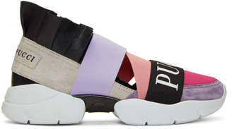 Emilio Pucci Pink and Purple City Up Sneakers