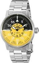 Fortis Men's Flieger Cockpit Watch, Silver/Yellow