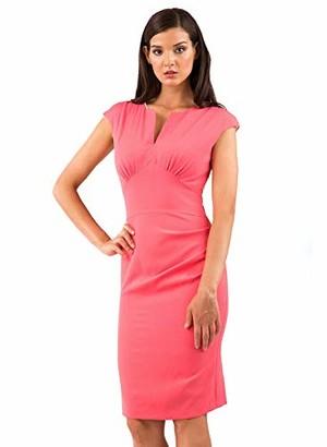 Hybrid Fashion Felicity Soft Crepe Pencil Dress - Magenta; 8