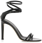 Giuseppe Zanotti Catia Ankle-Wrap Lizard-Embossed Leather Sandals