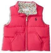 Ralph Lauren Infant Girls' Down Puffer Vest - Sizes 6-24 Months