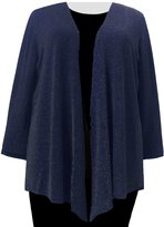 A Personal Touch Sapphire Sparkle Women's Plus Size Cardigan Sweater