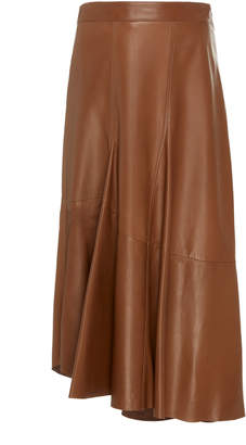 Brunello Cucinelli High-Waisted Leather Midi Skirt Size: 38