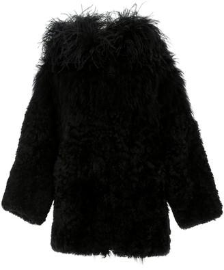 Prada Hooded Fur Coat