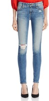 Alice + Olivia Jane Distressed Five-Pocket Skinny Jeans in Faded Wash