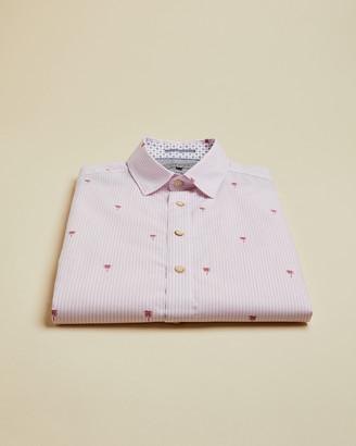 Ted Baker VEGTY Cotton linen blend printed shirt