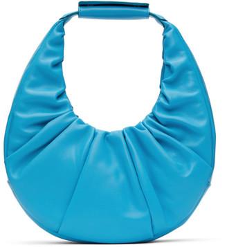 STAUD Blue Soft Moon Bag