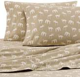Eddie Bauer Buckhead Ridge Twin XL Flannel Sheet Set in Beige