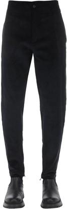 Salvatore Ferragamo Cotton Corduroy Pants W/Zip Hem