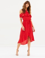 Oasis Plain Halter Bardot Dress