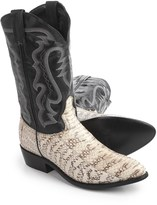 "Laredo Water Snake Cowboy Boots - 12"", Point Toe (For Men)"
