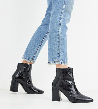 Miss Selfridge pointed ankle boots in black