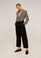 MANGO Pleated culottes pants black - 2 - Women