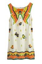 Calypso St. Barth Yantra Butterfly Embellished Linen Dress