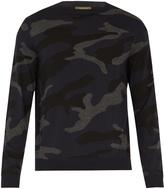 Valentino Camouflage-intarsia wool sweater