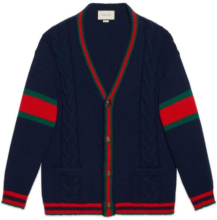 Gucci Cable knit cardigan