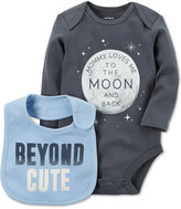 Carter's 2-Pc. To The Moon Cotton Bodysuit & Bib Set, Baby Boys (0-24 months)