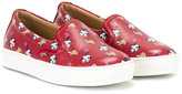 Salvatore Ferragamo Kids dog print slip-on sneakers