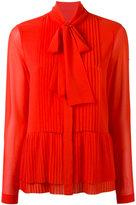 MICHAEL Michael Kors pleated shirt - women - Polyester - 2