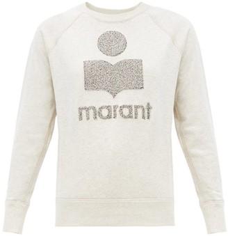 Etoile Isabel Marant Milly Terry-logo Cotton-blend Sweatshirt - Ivory