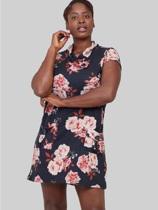 M&Co Izabel Curve floral knitted shift dress