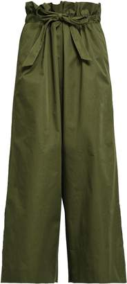 Dagmar House Of Tie-front Gathered Cotton Culottes