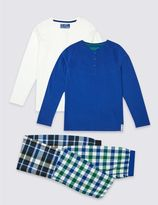 Marks and Spencer 2 Pack Pure Cotton Pyjamas (3-16 Years)