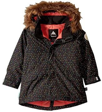 Burton Aubrey Jacket (Toddler/Little Kids) (Fuchsia Multi) Girl's Coat