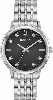 Bulova Women's Analogue Quartz Watch with Stainless Steel Strap 96P205